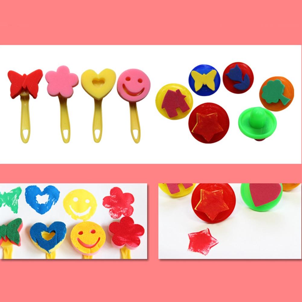 29PCS/Set DIY Interesting Children's Toys Sponge Brush Drawing Set Watercolor Imagination Developing Early Education