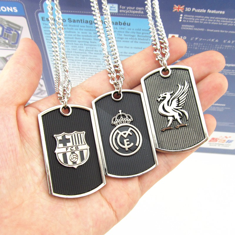 Vòng cổ inox các CLB bóng đá Manchester united, real madrid, chelsea,arsenal, barcelona, liverpool,