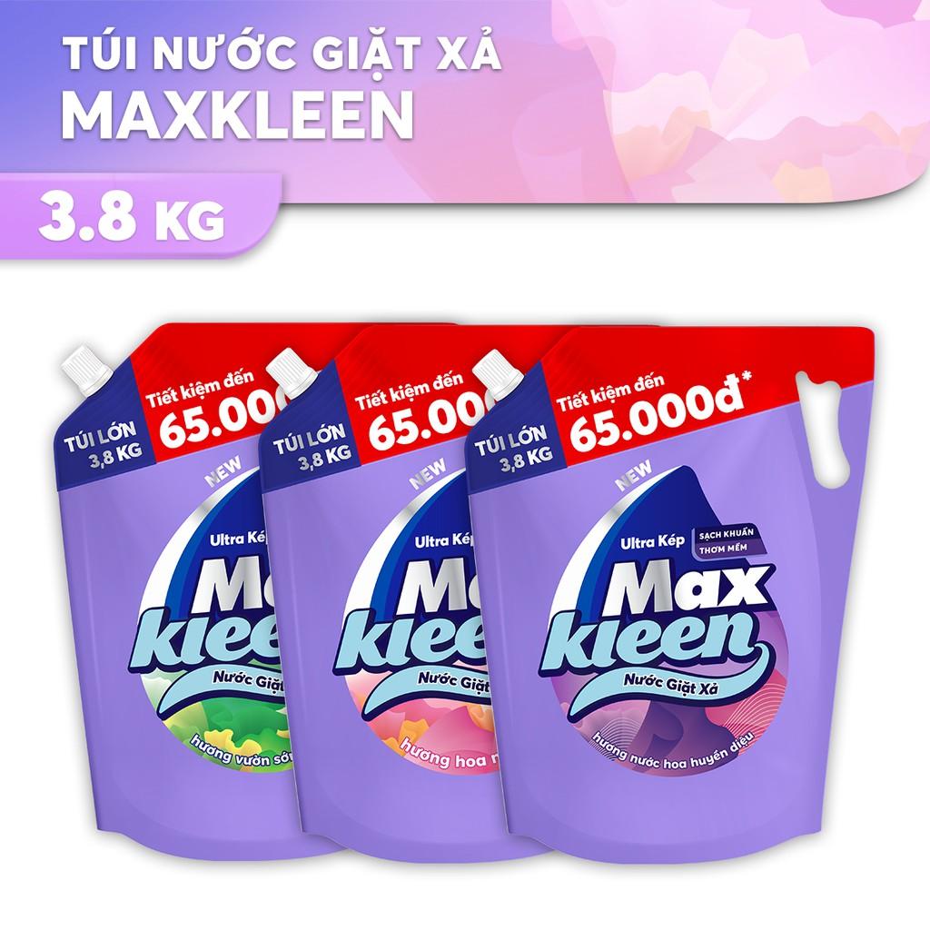 Túi Nước Giặt Xả Maxkleen 3.8kg (MỚI)