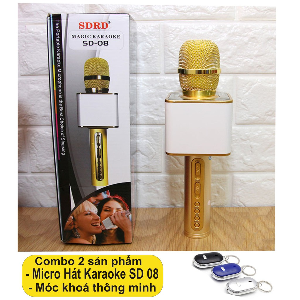 Mic hát karaoke SD 08 cao cấp + Tặng móc khoá thông minh _ Hàng nhập khẩu - 3050546 , 413234250 , 322_413234250 , 249000 , Mic-hat-karaoke-SD-08-cao-cap-Tang-moc-khoa-thong-minh-_-Hang-nhap-khau-322_413234250 , shopee.vn , Mic hát karaoke SD 08 cao cấp + Tặng móc khoá thông minh _ Hàng nhập khẩu