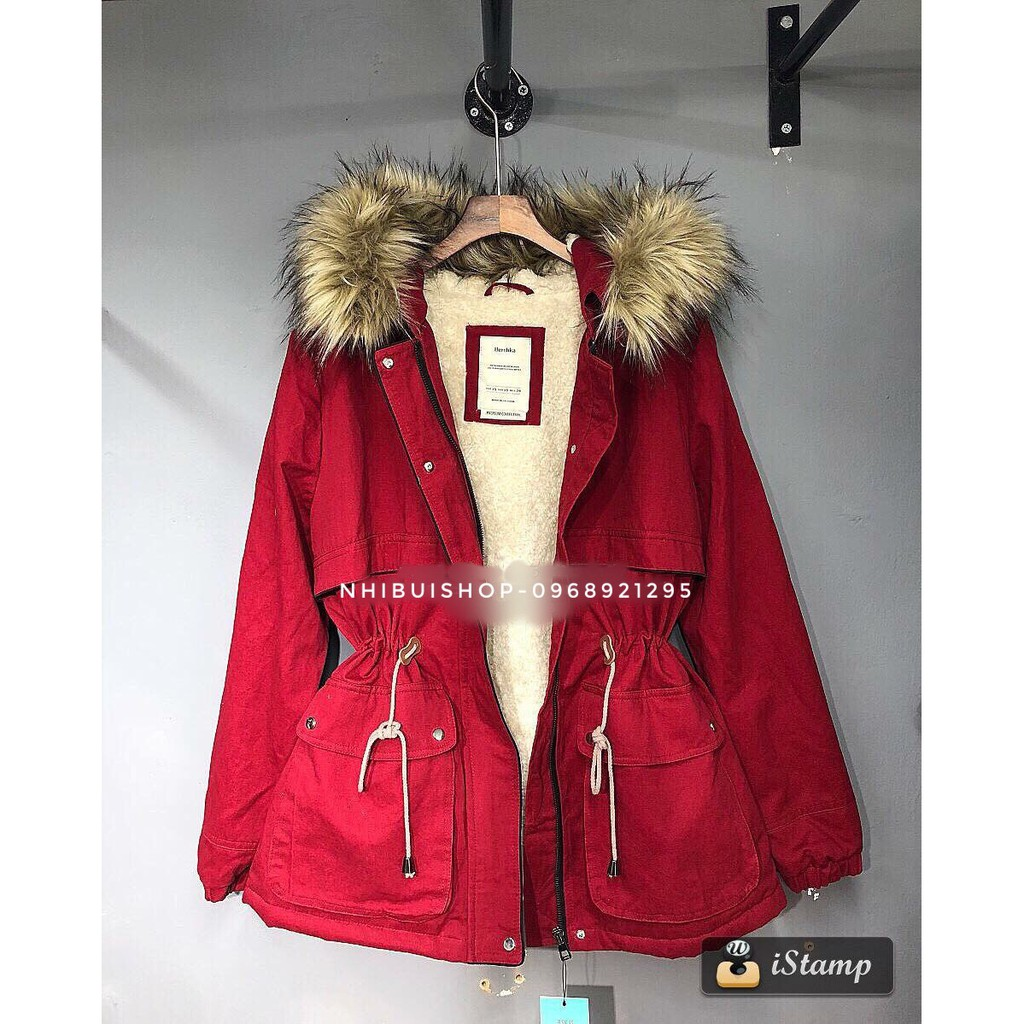 Áo kaki túi hộp trần bông siêu ấm