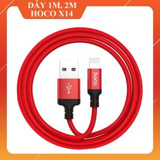 FREESHIP TỪ 50K _ Cáp Sạc Hoco X14 dòng 5V - 2A Dài 1M 2M Lightning cho iPhone Micro USB Type C thumbnail