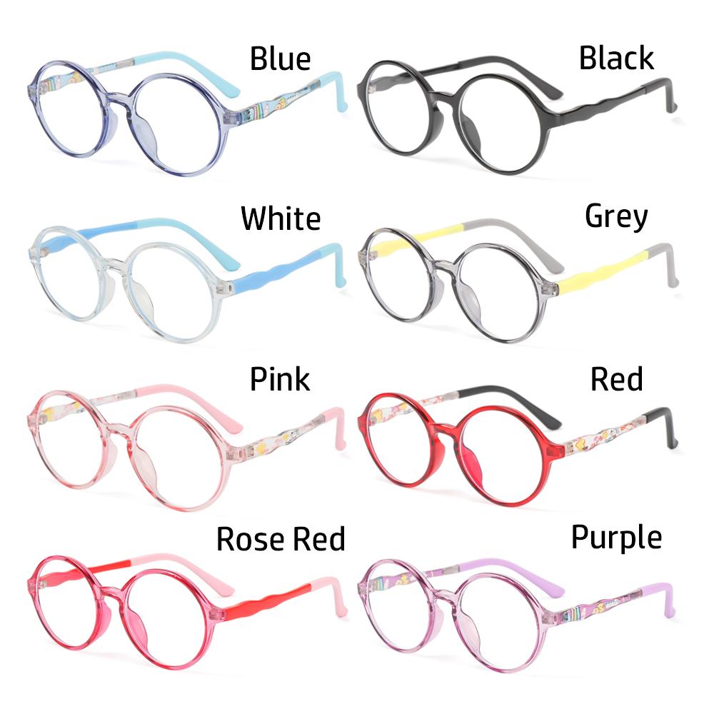 🍒ME🍒 Children Boys Girls Kids Glasses Portable Ultra Light Frame Comfortable Eyeglasses TR90 Online Classes Fashion Computer Eye Protection Anti-blue...