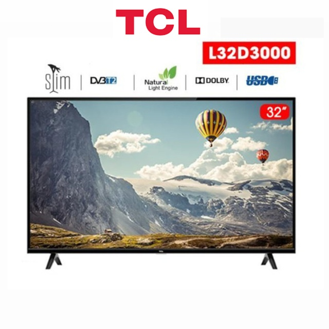 Tivi Led HD TCL 32 inch L32D3000 - Hàng Chính Hãng