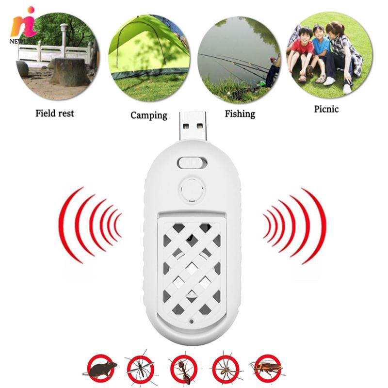 NL Portable USB Mosquito Killer Ultrasonic Speaker Anti-Mosquito Repellent Mouse Mice Rat Mosquito-Flavor Heater Giá chỉ 73.370₫