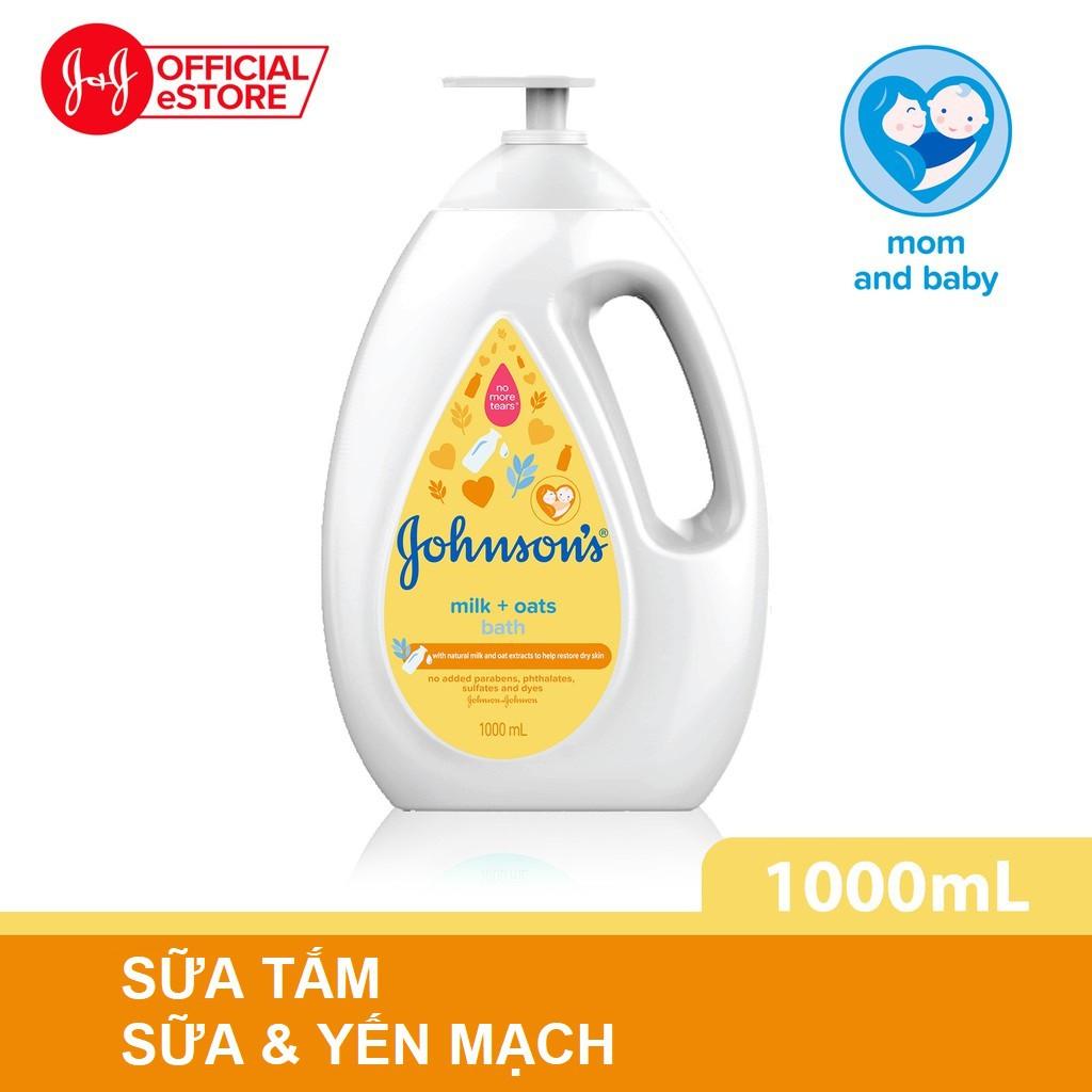 Sữa tắm Johnson's chứa sữa và yến mạch 1000ml - 1009