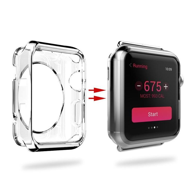 Ốp bảo vệ chất liệu TPU dẻo siêu mỏng cho mặt sau đồng hồ Apple