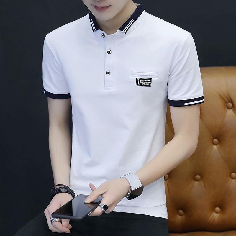 Áo thun Polo ngắn tay trơn màu thời trang dành cho nam