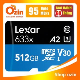 [RẺ VÔ ĐỊCH] Thẻ nhớ Micro SD lexar 512GB 256GB UHS-I class 10 SDXC 633x U3 95Mb/s