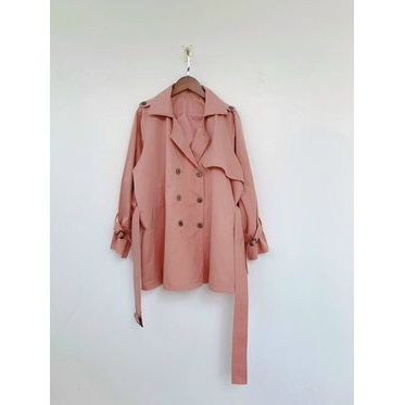 Áo khoác blazer hồng style Hàn Quốc - 2 lớp KaKi dày