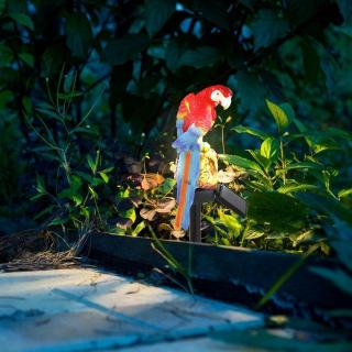 Solar Power Parrot Lawn Light Waterproof Garden Landscape Lamp Outdoor Decor