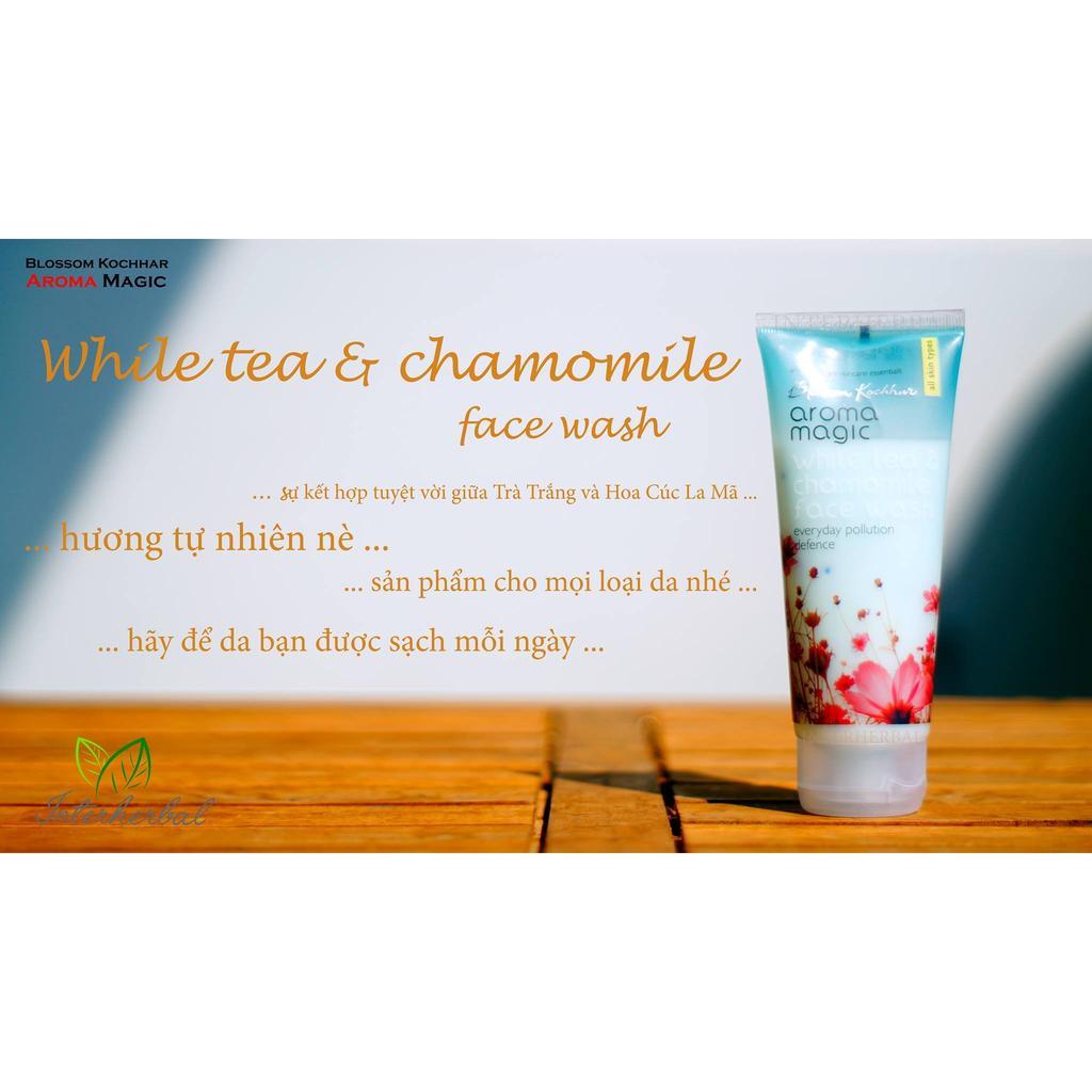 [AROMA MAGIC] WHITE TEA & CHAMOMILE FACEWASH - SRM TRÀ TRẮNG VÀ CÚC LA MÃ 100 ML