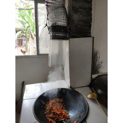 Quạt hút mùi bếp tự chế cho căn hộ nhỏ và sinh viên| Tặng kèm 4m ống mềm, dây thít!