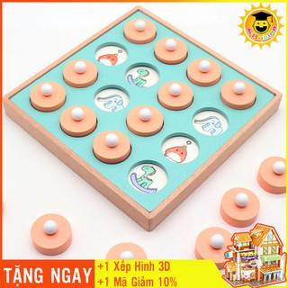 đồ chơi thông minh 💥FREESHIP-QÙA TẶNG🎁 Đồ Chơi Bằng Gỗ Tìm Cặp Hình Giống Nhau Luyện Trí Nhớ Phát Triển Tư Duy