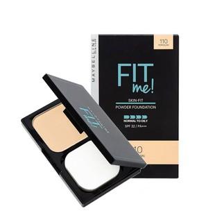 Phấn Nền Kiềm Dầu Chống Nắng Tiệp Mọi Tông Da SPF 32 PA+++ Fit Me Skin-Fit Powder Foundation Maybelline New York 9g(to) thumbnail