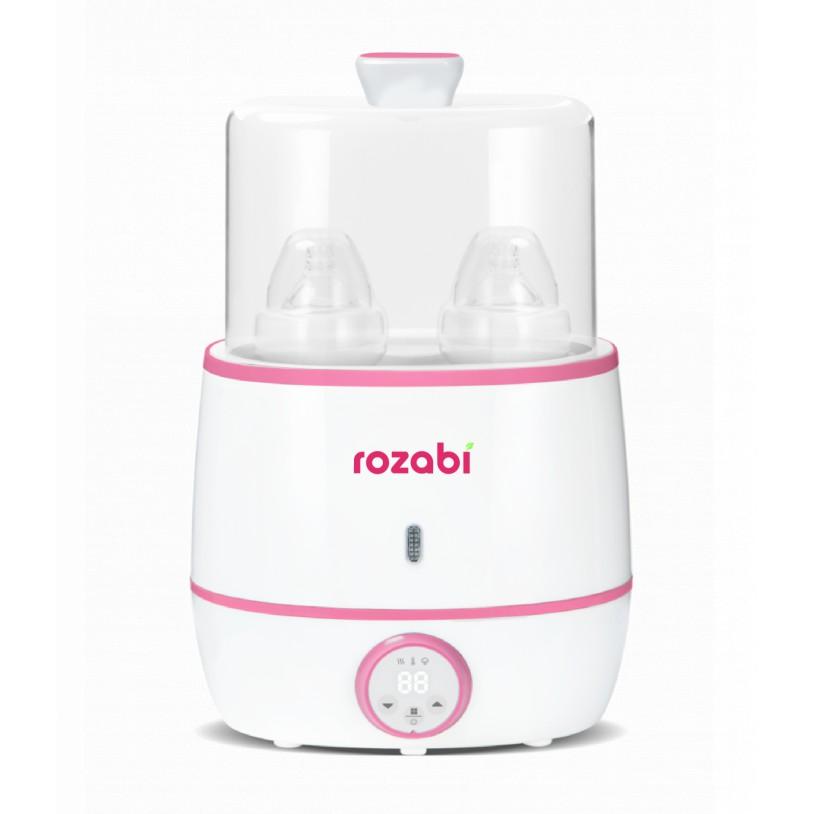 Máy hâm sữa và tiệt trùng siêu tốc cao cấp Rozabi Flash 500W HB-055E (2 bình cổ rộng)