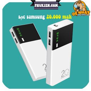 Sạc Dự Phòng Samsung 💖FREESHIP💖 20.000mah Có đèn pin và hiển thị % pin 5 lõi bảo hành lỗi 1 đổi 1
