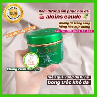 [Auth mẫu mới] Kem xanh dưỡng da toàn thân Chống nẻ Lô hội Aloins Eaude Cream - 185g . dưỡng da khô, da tay mùa đông thumbnail
