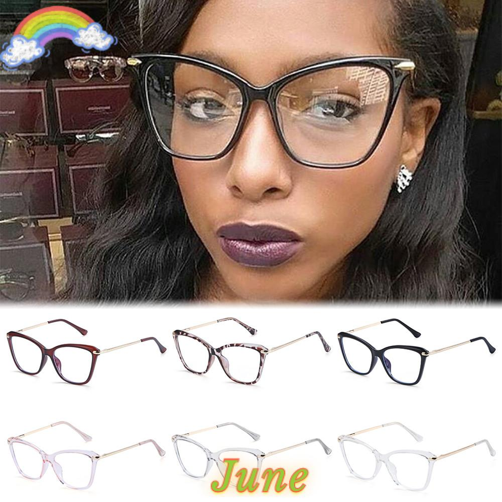 JUNE Fashion Computer Glasses Non-Prescription Blue Light Blocking Blue Light Blocking Glasses Women & Men Reading Gaming Glasses Square Frame...