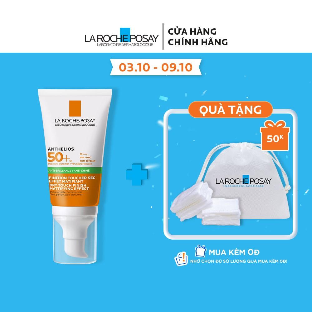 Kem chống nắng giúp kiểm soát bóng nhờn & bảo vệ da trước tia UVB UVA SPF 50+ La Roche-Posay Anthelios XL Dry Touch 50ml