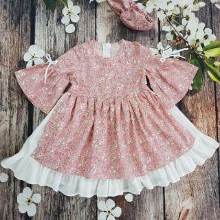 combo váy thô hoa cho bé gái thumbnail