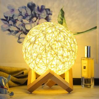 Đèn ngủ quả cầu mây để bàn trang trí độc đáo - Do_luu_niem thumbnail