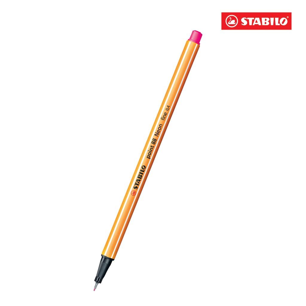 Bút lông kim STABILO Point 88 PT88-056 (màu hồng dạ quang)