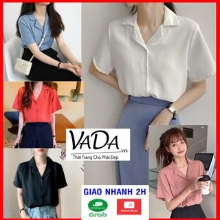 Áo sơ mi cổ vest quốc dân nhất định nên có, phối chân váy, quần jeans ,quần tây , quần sort bao xinh - VADA (SM5) thumbnail