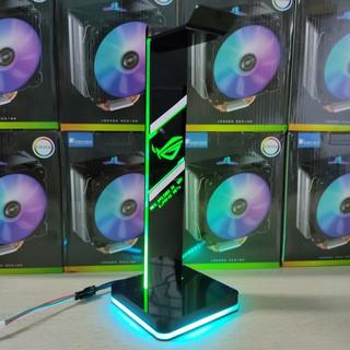Giá treo tai nghe Gaming Logo ROG Led RGB, tặng kèm bộ khiển màu Coolmoon