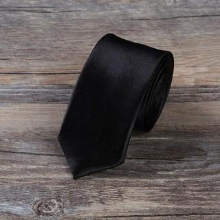 Woven Jacquard Plain Solid Skinny Necktie