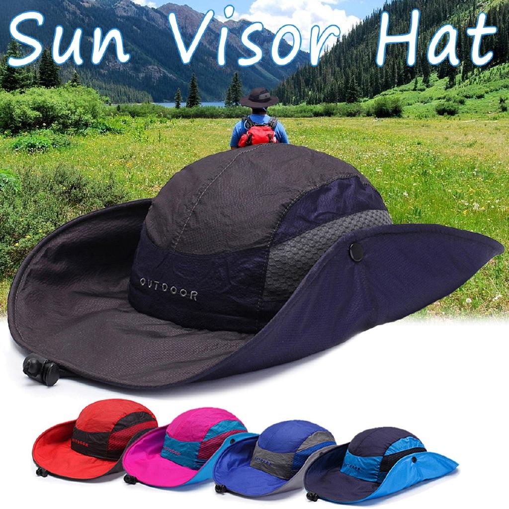 Men Woman Quick-drying Fisherman Hat Foldable Visor Hat