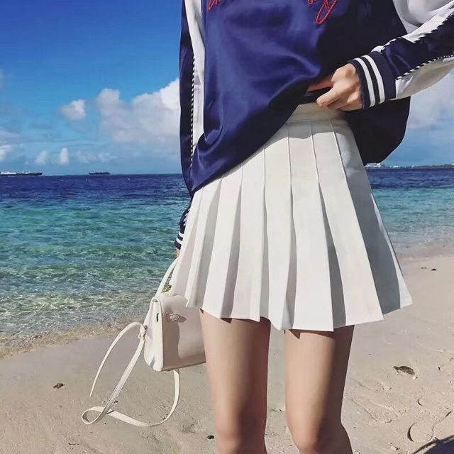 Chân váy Tennit_Chân váy ngắn chiết li có quần