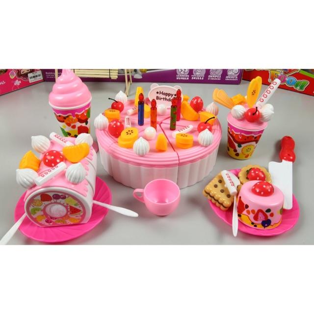 Compo 5 bộ trang trí và cắt bánh sinh nhật