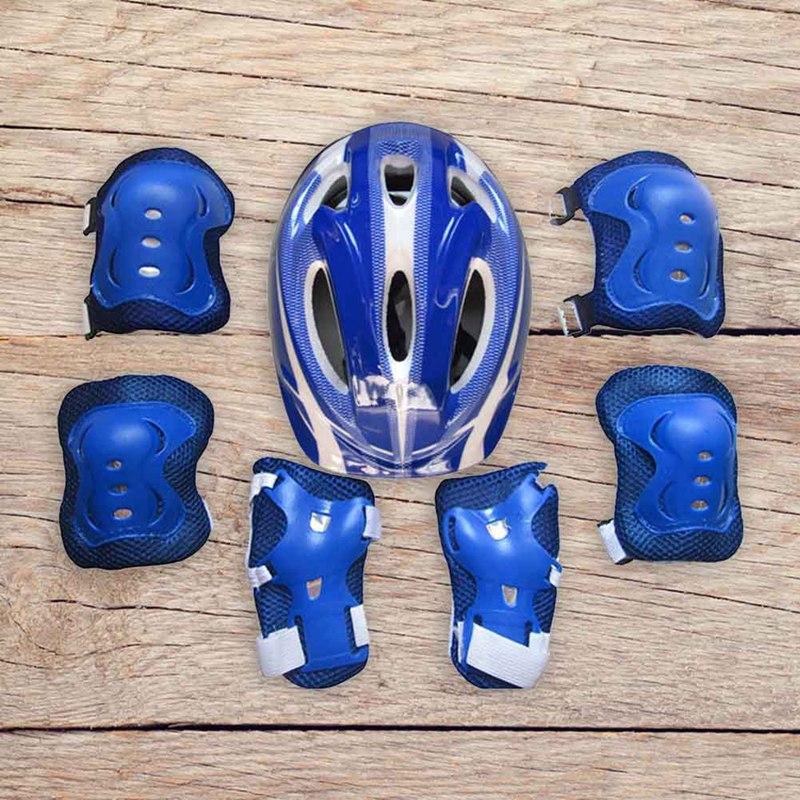 Bộ mũ bảo hiểm kèm đệm khủy tay và đầu gối bảo vệ an toàn cho bé khi trượt ván/đạp xe