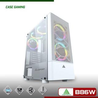Vỏ CASE VSP Gaming Mặt Lưới B86W (WHITE)
