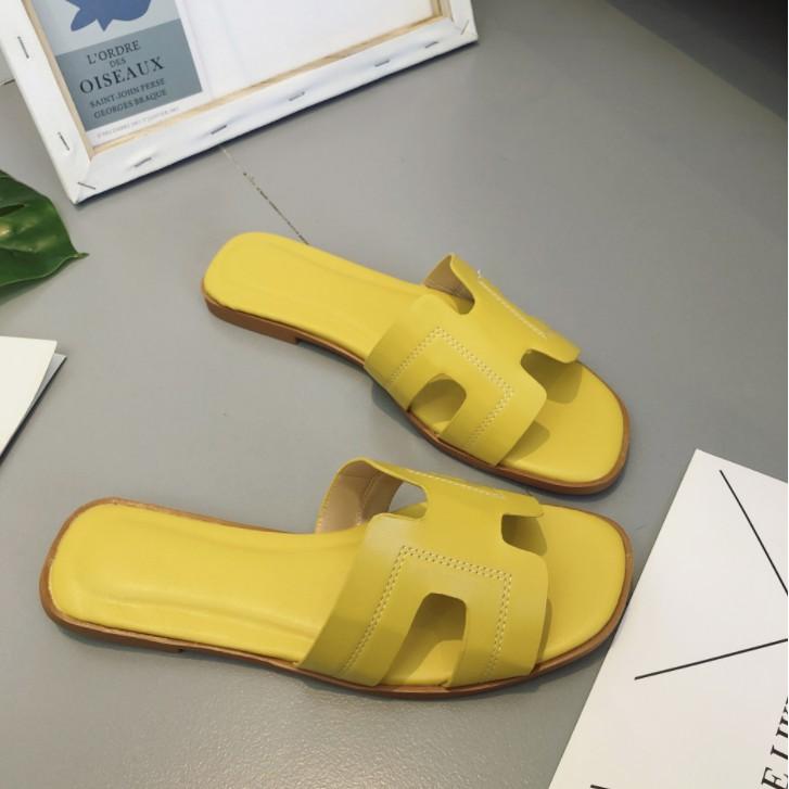 Dép chữ H thời trang mềm dẻo mặc êm chân (đen, vàng, trắng)