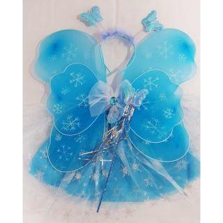 Set 4 chi tiết cánh bướm công chúa tuyết 3 màu