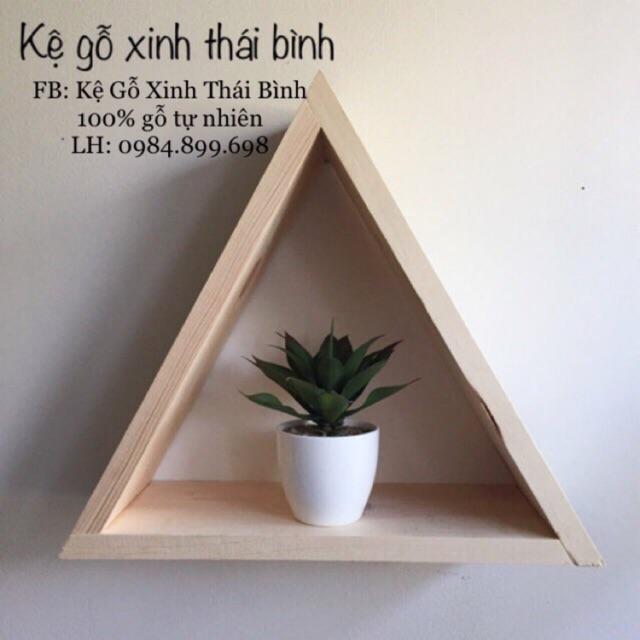Kệ gỗ treo tường treo tường tam giác mộc