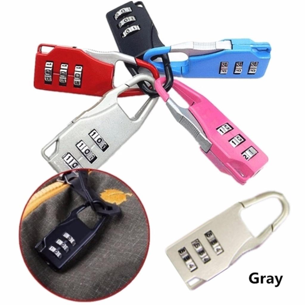 ท่องเที่ยว JJ กุญแจล็อคกระเป๋าเดินทาง กุญแจแบบตั้งรหัสผ่าน กุญแจล็อครหัส (Grey)่องเที่ยว JJ กุญแจล็อคกระเป๋าเดินทาง กุญแ