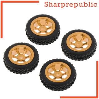 [SHARPREPUBLIC] 4 Pieces 1/28 RC Car Wheel Tires Replacement for Wltoys P929 P939 K979 K989 K999