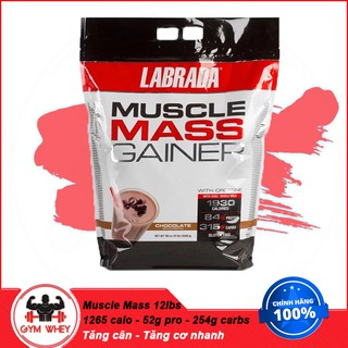 [FREE SHIP] Sữa Tăng Cân Nhanh Cho Người Gầy Muscle Mass Gainer – Labrada -12 Lbs (5.4kg) – Authentic 100%