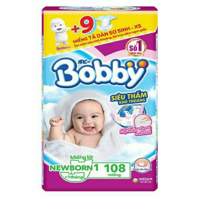 Miếng lót bobby NB1: 108 miếng, NB2: 60 miếng
