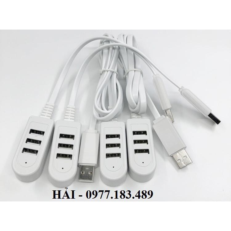 [Nhập ELCLMAY hoàn 30K xu đơn từ 200K]Bộ chia USB HUB 3 cổng USB Dài 1,2m Giá chỉ 24.000₫