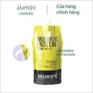 Dầu Hấp Ủ Tóc Collagen Delofil Arganoil Protein Siêu Mượt 500ml thumbnail