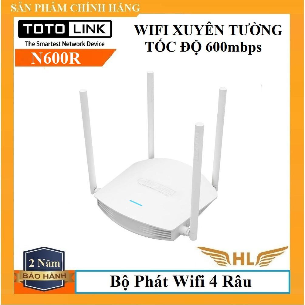 Bộ Phát Wifi 4 Râu N600 TotoLink N600R-Hàng Chính Hãng