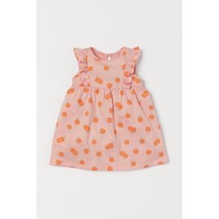 Váy cánh tiên bé gái cam họa tiết mới mẫu mới săn Uk sz 6-9m đến 3-4y