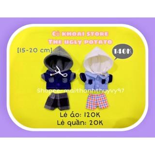 [15-20cm] Áo khoác cho doll kèm quần, Outfit cho doll, quần áo cho doll