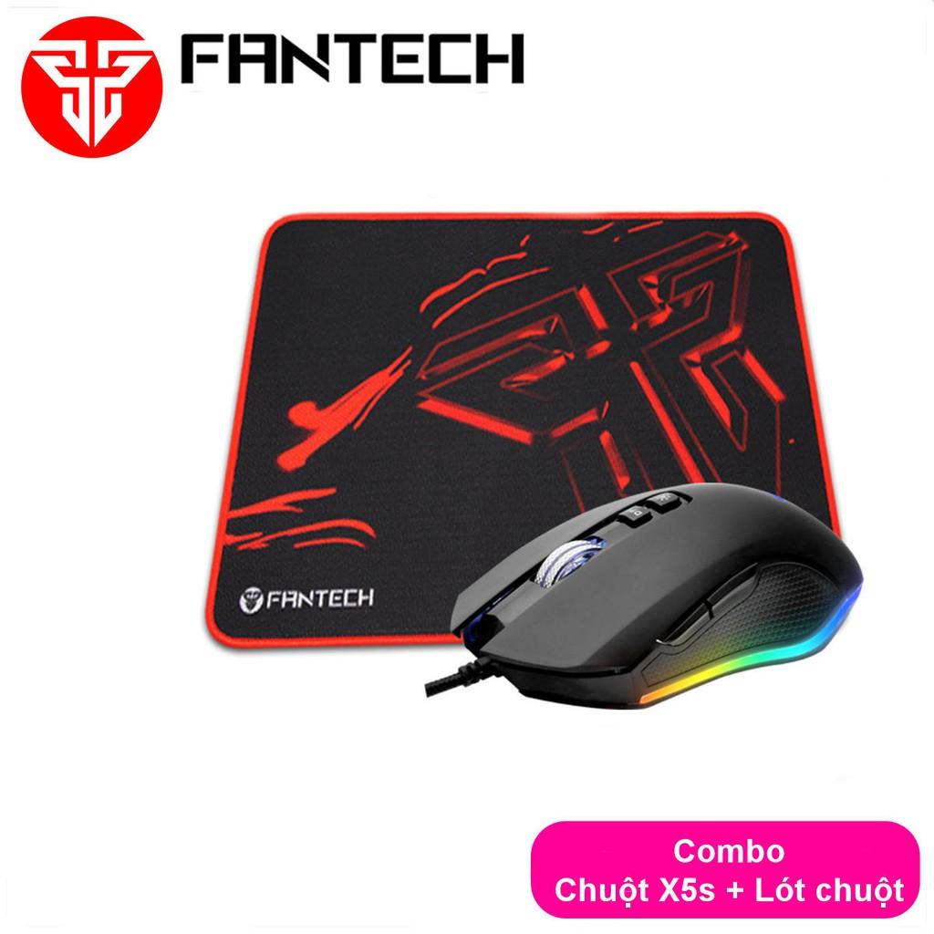 Combo FANTECH Chuột X5s ZEUS + Lót Chuột MP25 / MP292 / MP35 - CBO X5s lót chuột
