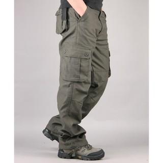 Quần Túi Hộp Nam Kaki Kiểu Lính Qh11.1 màu xám