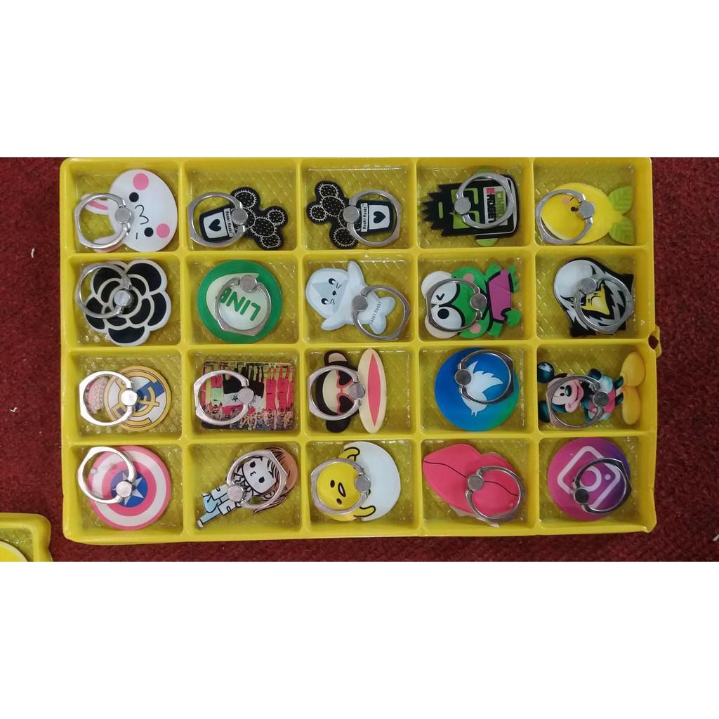[Full hộp] Iring Giá Đỡ Điện Thoại Chiếc Nhẫn Icon Bánh Kẹo Siêu Bám Dính !
